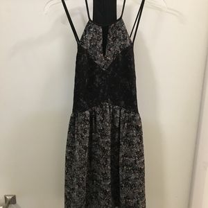 BCBGeneration Dresses - Black and Blue Floral Sun Dress